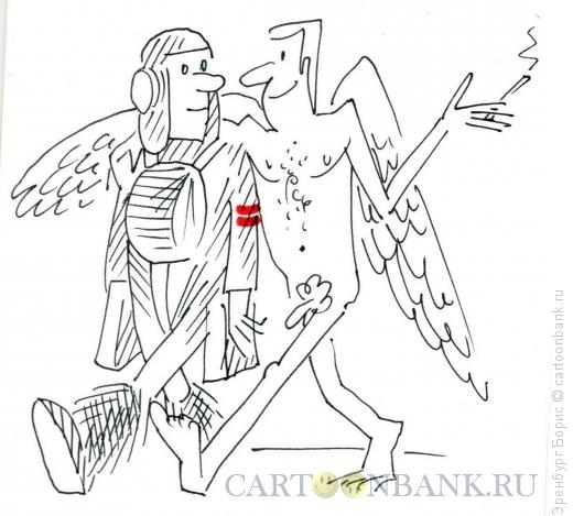 Карикатура: Обмен опытом, Эренбург Борис