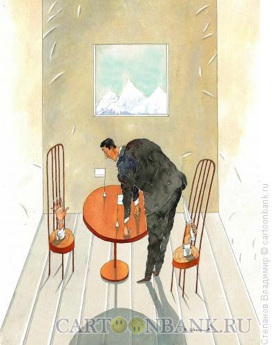 Карикатура: Восток - дело тонкое, Степанов Владимир