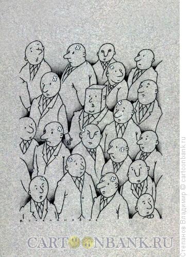 Карикатура: Он с детства не любил овал., Степанов Владимир