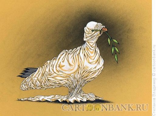 Карикатура: Голубь мира, Степанов Владимир