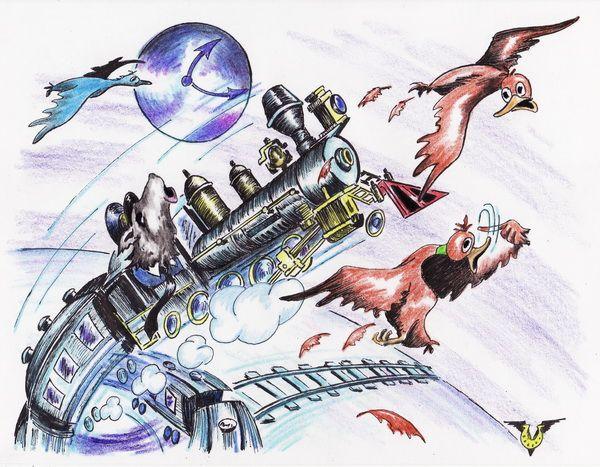 Карикатура: Полнолуние, Владимир Уваров