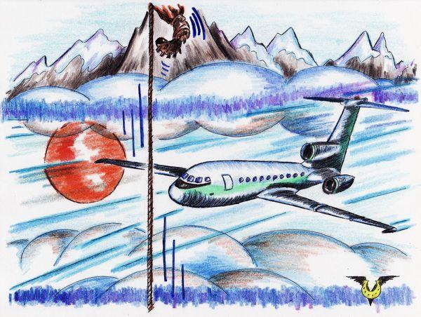 Карикатура: Горные вершины, Владимир Уваров