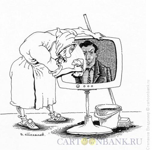 Карикатура: Много пыли, Степанов Владимир