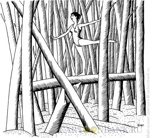 Карикатура: Гимнастка, Майстренко Дмитрий