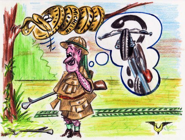 Карикатура: Следопыт, Владимир Уваров