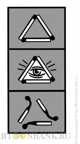 Карикатура: спички, Копельницкий Игорь
