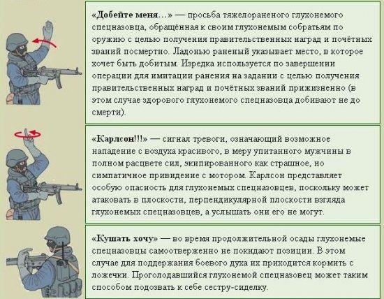 Карикатура: Язык жестов 3, Карамах