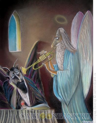 Карикатура: Божественный джаз, Богорад Виктор