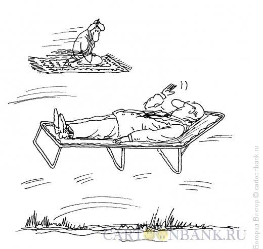 Карикатура: Раскладушка-самолет, Богорад Виктор