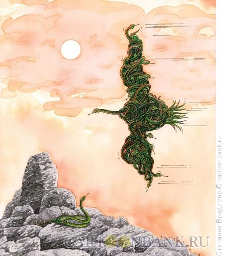 Карикатура: Сплоченность окрыляет, Степанов Владимир