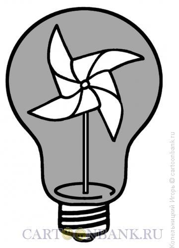 Карикатура: лампочка, Копельницкий Игорь