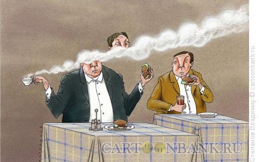 Карикатура: Настоящий гурман, Степанов Владимир
