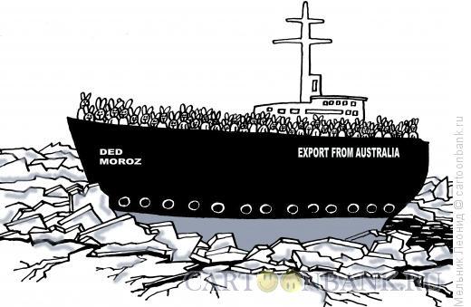 Карикатура: Экспорт, Мельник Леонид
