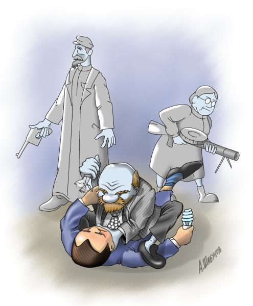 Карикатура: Лампочка Лукича, Александр Шабунов