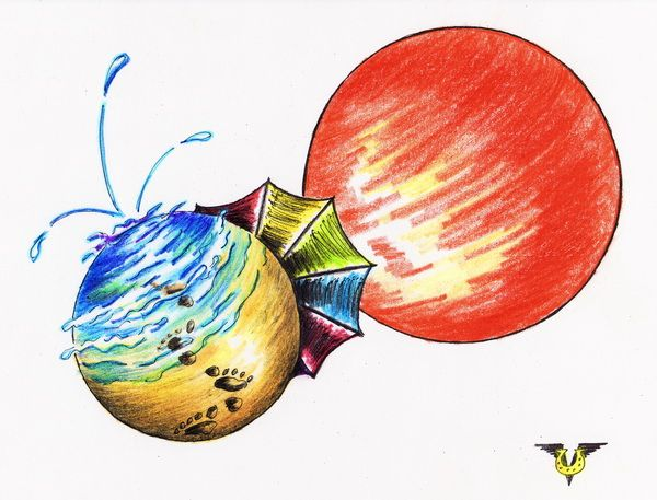 Карикатура: Солнечная система, Владимир Уваров
