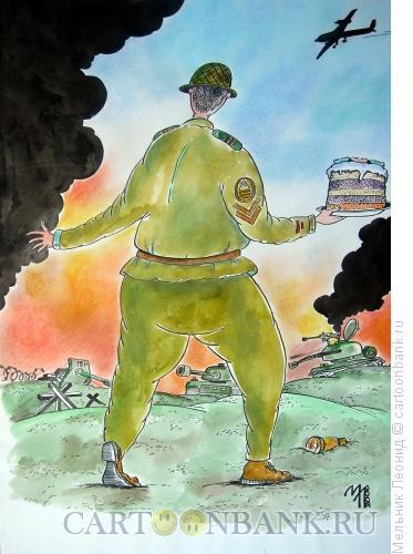 Карикатура: Гранаты закончились, Мельник Леонид