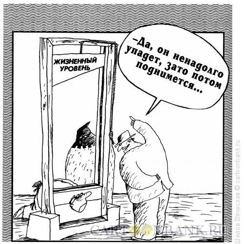 Карикатура: Жизненный уровень, Шилов Вячеслав