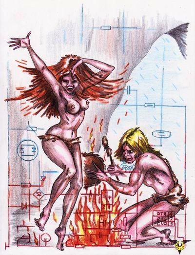 Карикатура: Борьба за огонь, Владимир Уваров