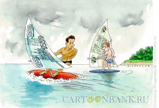 Карикатура: Ловцы ветра, Степанов Владимир