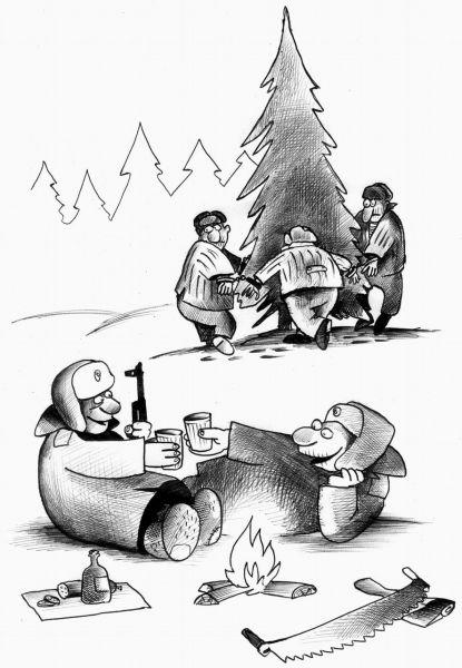 Карикатура: Хоровод, Сергей Корсун
