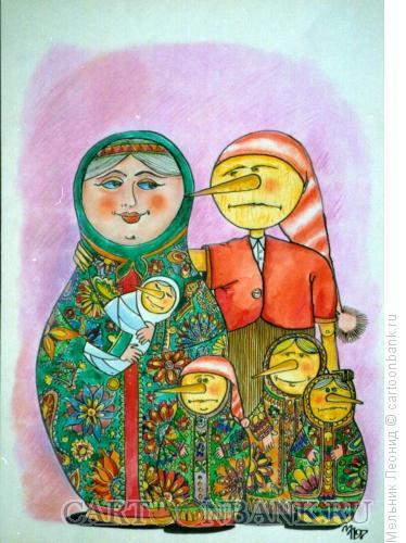 Карикатура: Крепкий брак, Мельник Леонид