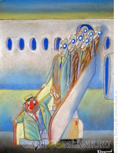 Карикатура: Хорошая посадка, Богорад Виктор