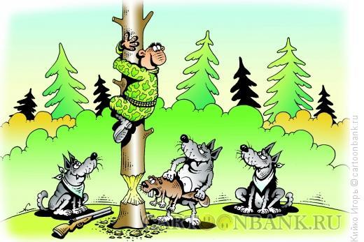 Карикатура: Охота, Кийко Игорь