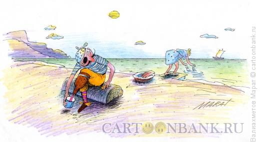 Карикатура: Протез-бутылка, Валиахметов Марат