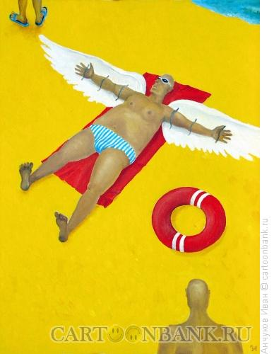 Карикатура: икар на солнце, Анчуков Иван