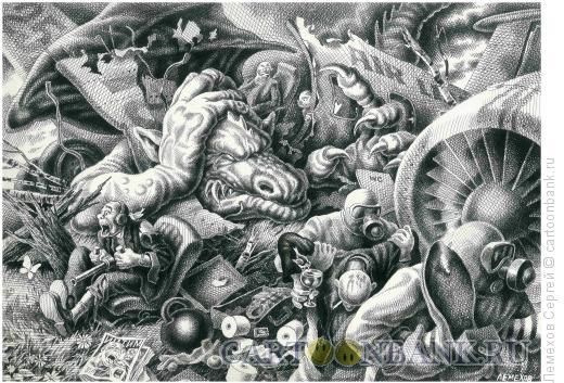 Карикатура: Крушение самолёта, Лемехов Сергей