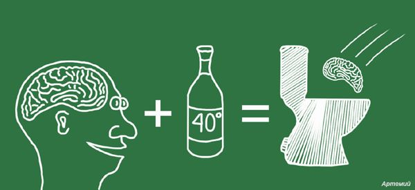 Карикатура: Арифметика для алкоголика, artemij