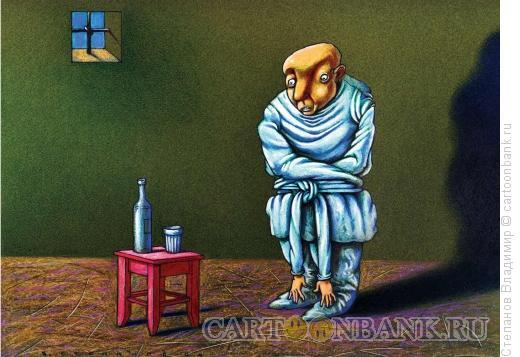 Карикатура: Алкоголик, Степанов Владимир