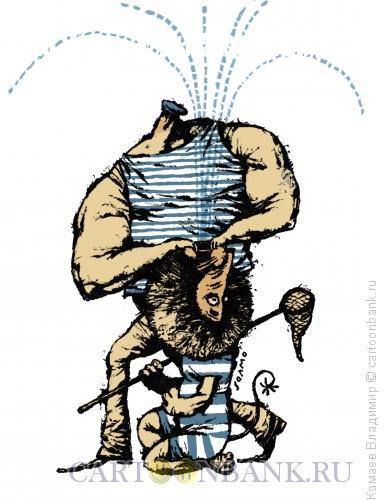 Карикатура: День ВДВ, Камаев Владимир