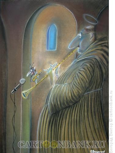 Карикатура: Святой флейтист, Богорад Виктор