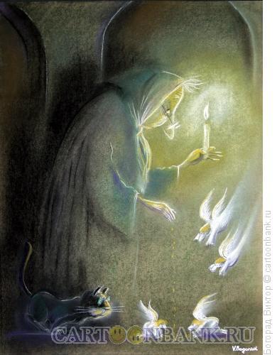 Карикатура: Бабушка, Богорад Виктор