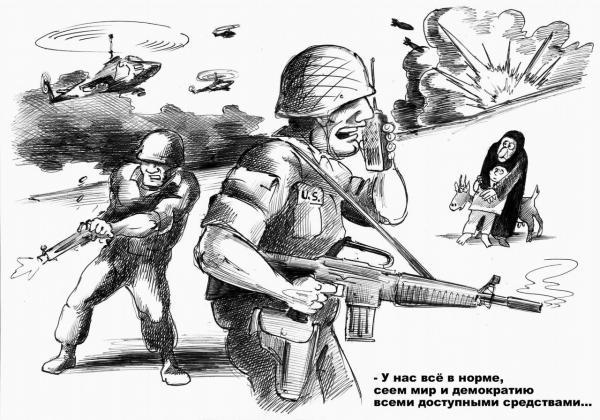 Карикатура: Сеятели демократии, Сергей Корсун