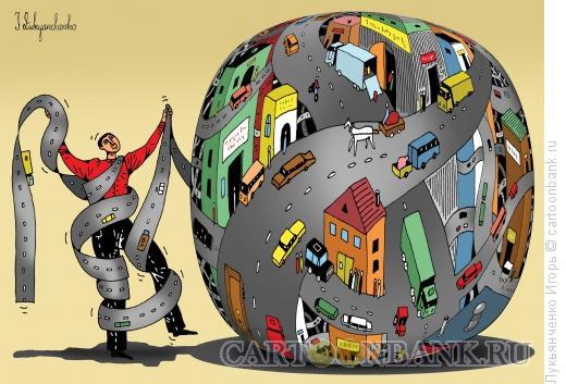 Карикатура: Транспортный узел, Лукьянченко Игорь