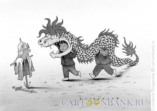 Карикатура: Китайская экспансия, Степанов Владимир