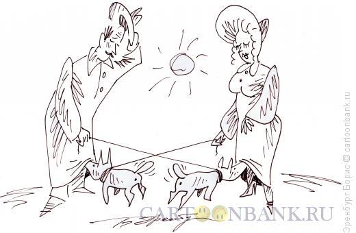 Карикатура: Пора любви, Эренбург Борис