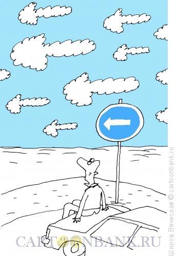 Карикатура: Указатели, Шилов Вячеслав