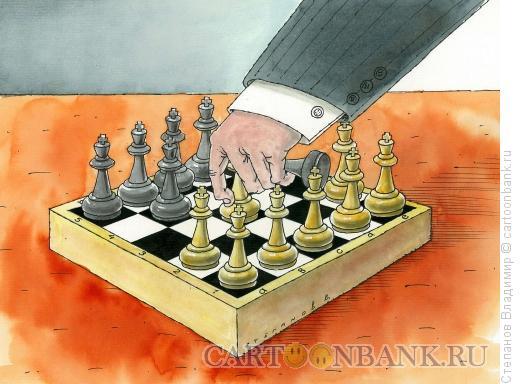 Карикатура: Игра королями, Степанов Владимир