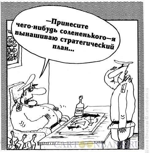 Карикатура: Генерал и план, Шилов Вячеслав