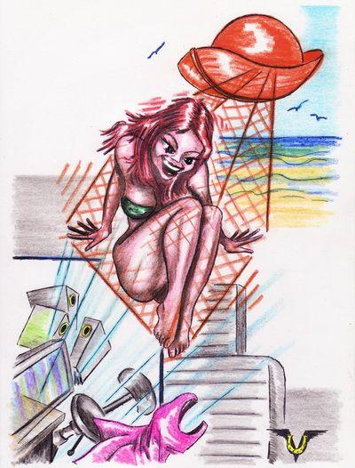 Карикатура: Солнечные сети, Владимир Уваров