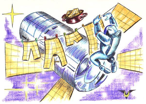 Карикатура: Белье, Владимир Уваров