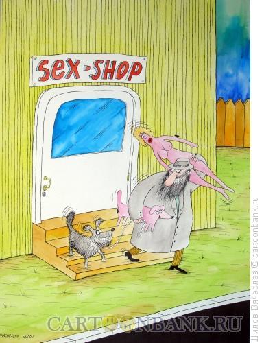 Карикатура: Надувная сучка, Шилов Вячеслав