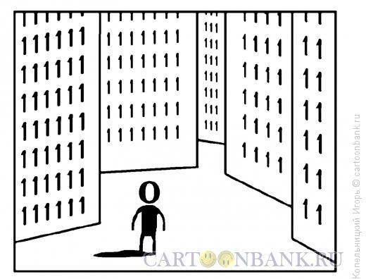 Карикатура: ноль в городе единиц, Копельницкий Игорь