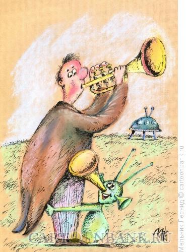 Карикатура: Здравствуй, папа!, Мельник Леонид