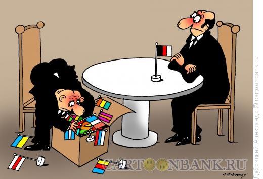 Карикатура: Переговорный процес, Дубовский Александр