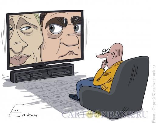 Карикатура: Борьба за экран, Ёлкин Сергей
