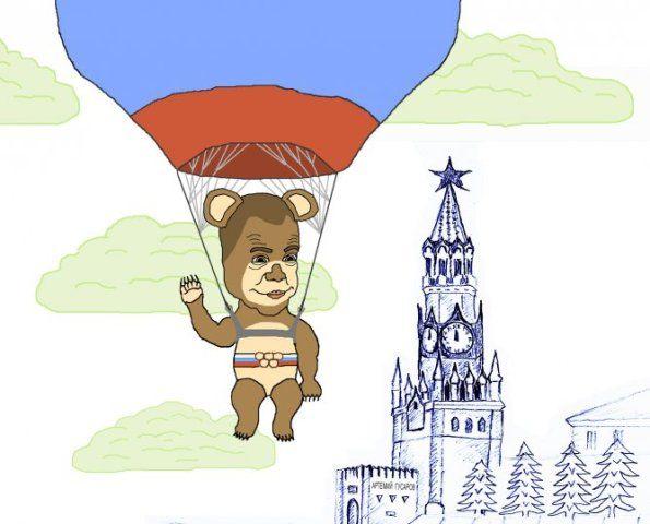 Карикатура: До свиданья, наш ласковый Миша!, artemij